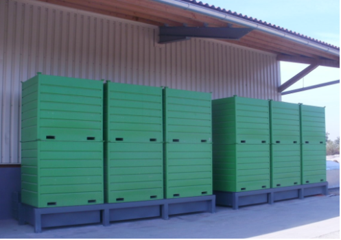 Reiter Seed Processing Gmbh Co KG Grain storage containers